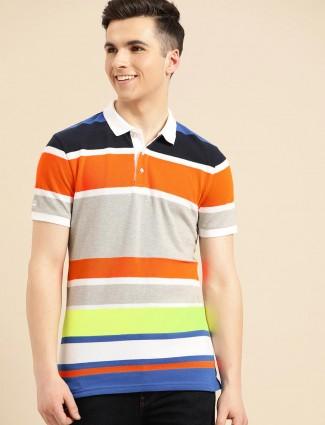 United Colors of Benetton multicolor stripe polo t-shirt