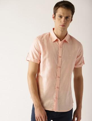 United Colors of Benetton peach cotton shirt