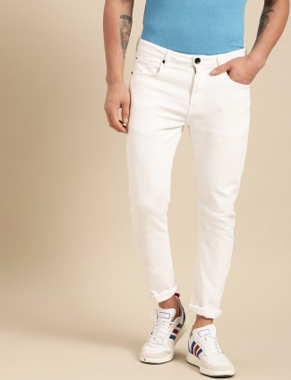 United Colors of Benetton solid white jeans