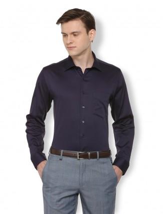 Van Heusen formal puple solid shirt