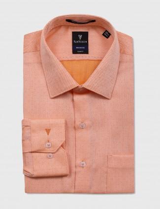 Van Heusen orange formal shirt