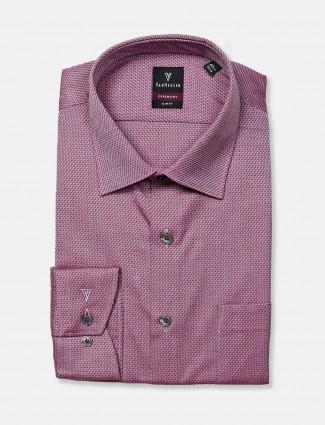 Van Heusen purple textured pattern shirt