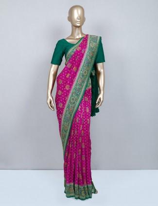 Wedding wear purple muga silk