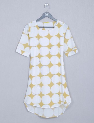 White casual cotton top for women