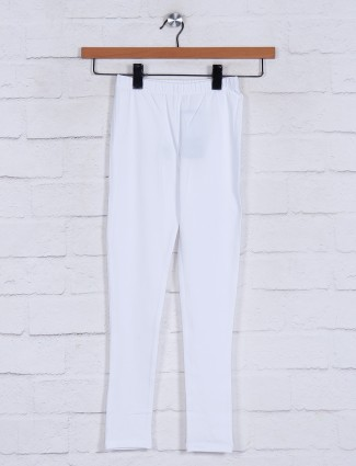 White cotton casual jeggings