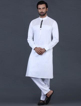 White cotton mens pathani suit