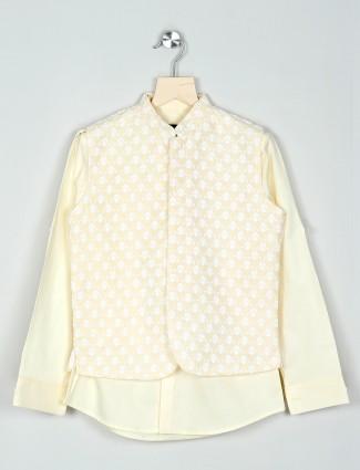 Yellow cotton waistcoat in cotton