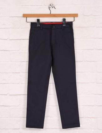 Zillian solid navy boys cotton trouser