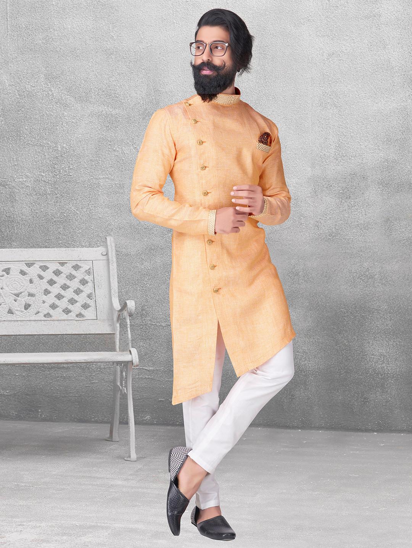 Mustard yellow color silk kurta suit?imgeng=w_400