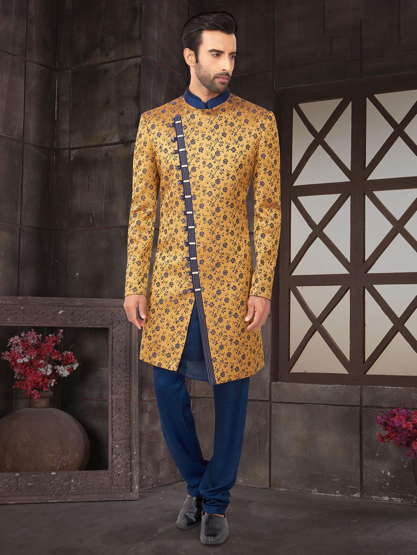 Mustard yellow double layer cotton silk indo wetsern?imgeng=w_400