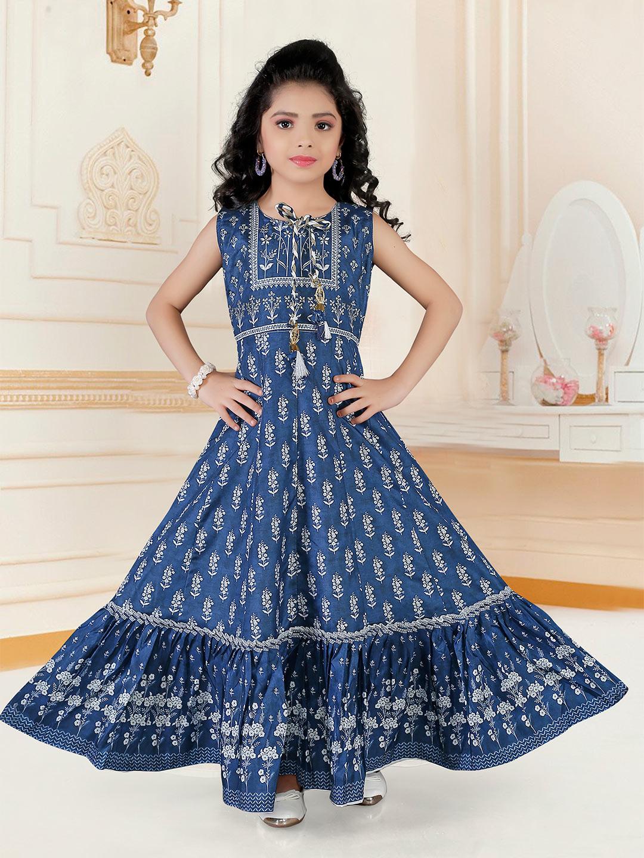 Navy anarkali suit for girls in cotton silk?imgeng=w_400