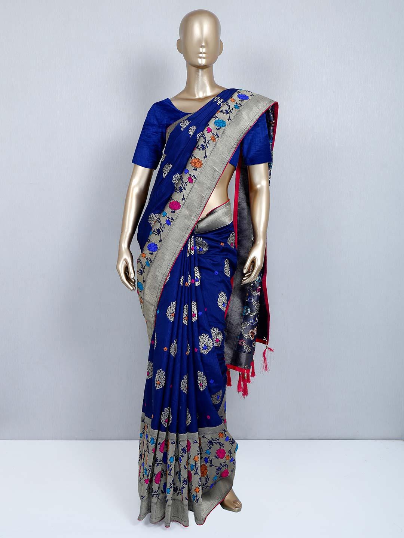 Navy muga silk saree for wedding events?imgeng=w_400