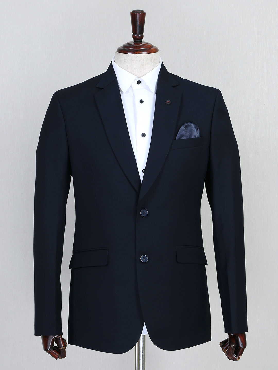 Navy solid terry rayon mens coat suit?imgeng=w_400