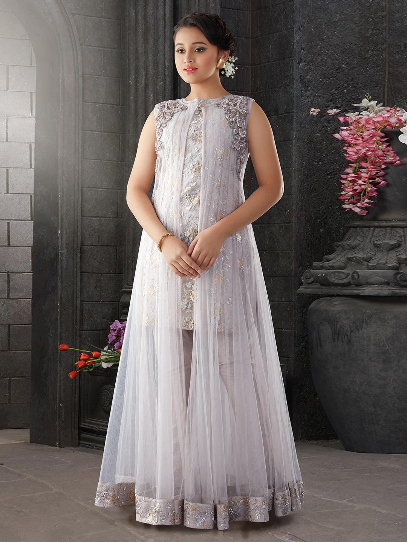Net fabric grey hue pretty girls salwar suit?imgeng=w_400