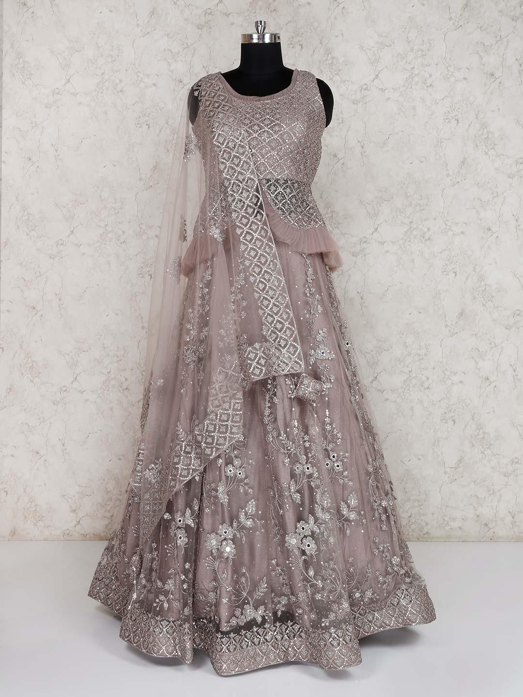 Net wedding grey lehenga choli?imgeng=w_400