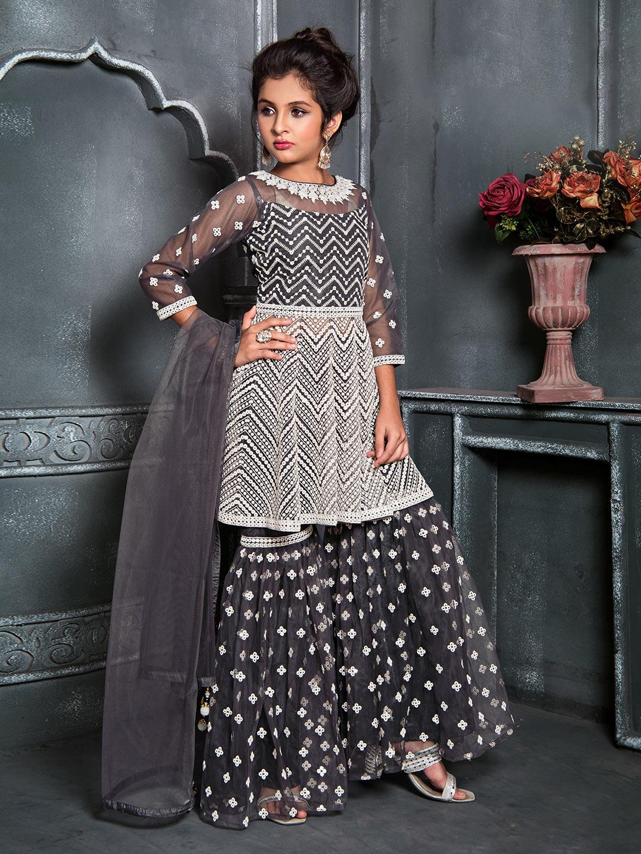 Net wedding grey punjabi sharara suit?imgeng=w_400