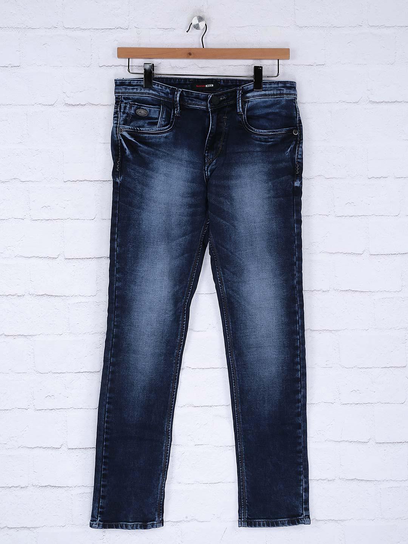 Nostrum solid navy hued jeans?imgeng=w_400