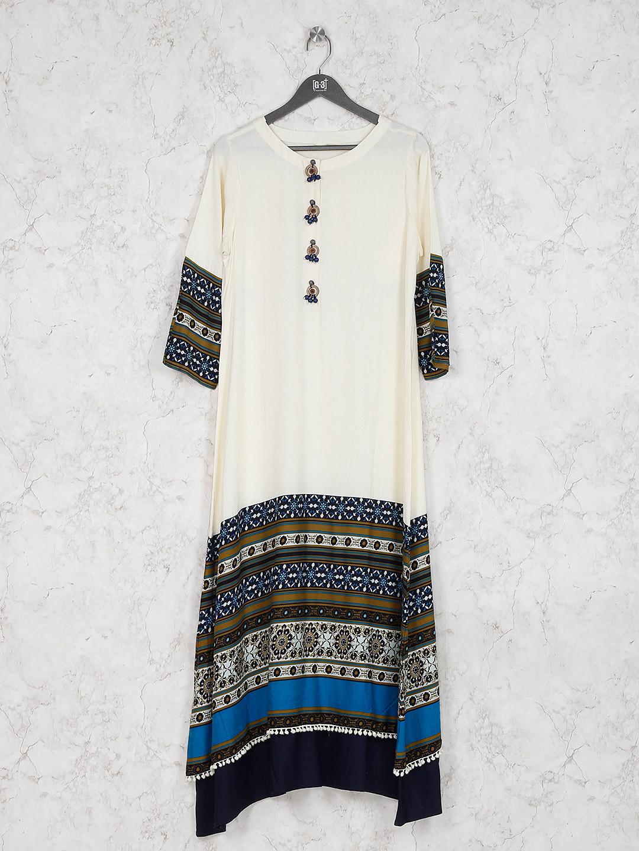 Off white cotton fabric casual kurti?imgeng=w_400