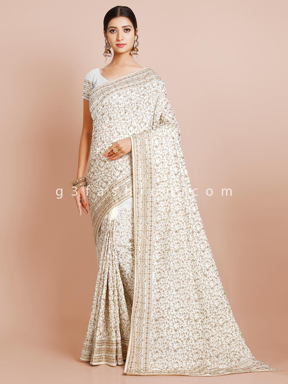 Off-white wedding wear silk saree for women?imgeng=w_400