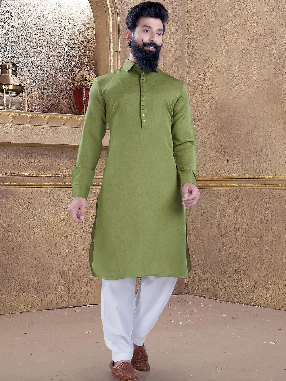 Olive color plain pathani suit?imgeng=w_400