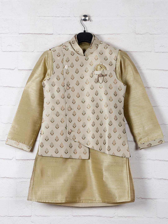 Olive raw silk boys waistcoat set?imgeng=w_400