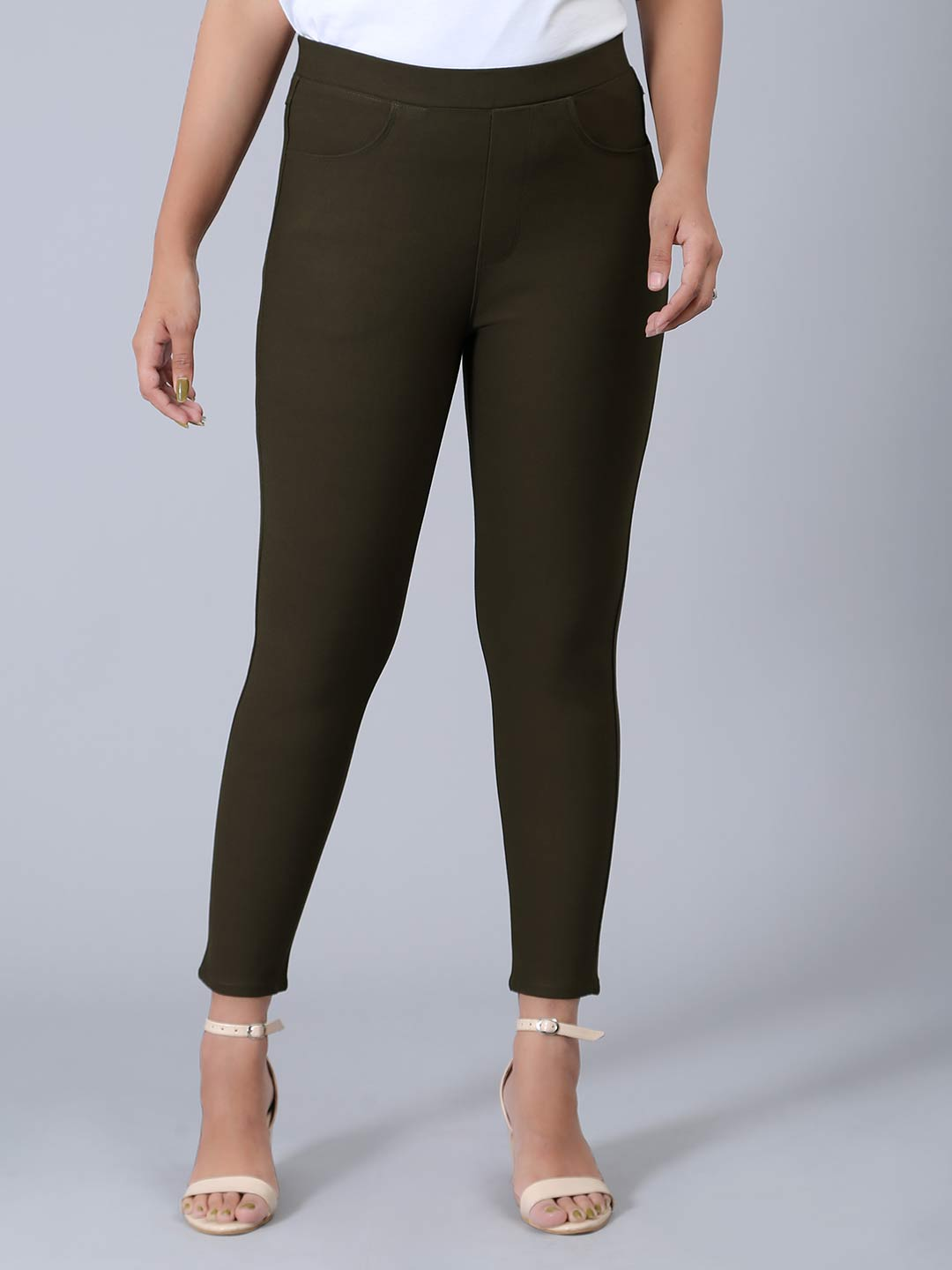 Olive soid cotton skinny fit jeggings?imgeng=w_400
