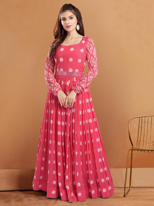 Opulent georgette festive wear anarakali suits in pink?imgeng=w_400