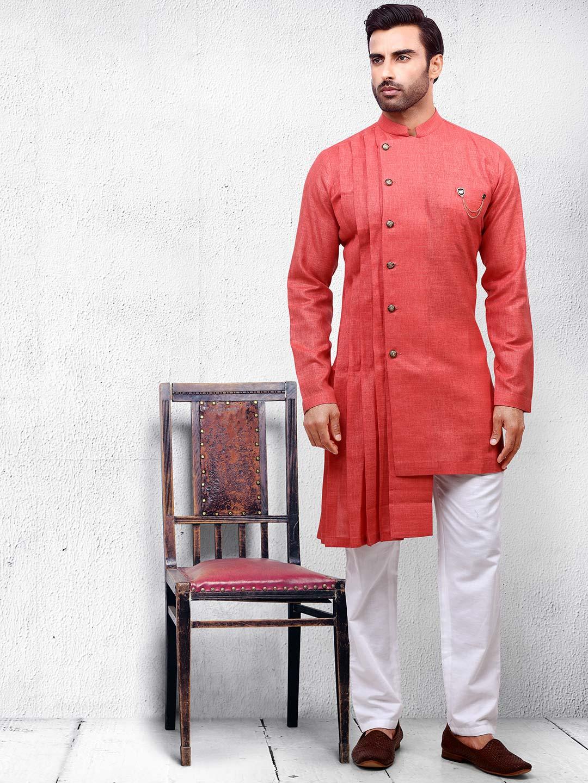 Orange hued cotton fabric kurta suit?imgeng=w_400