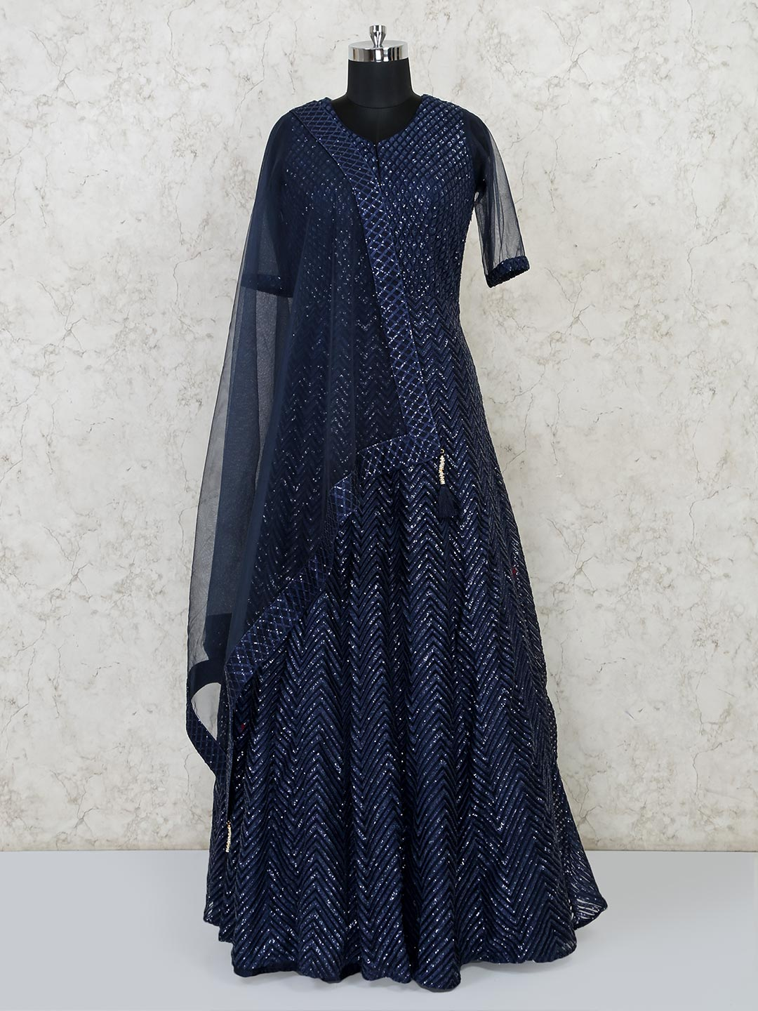 Party function navy floor length gown?imgeng=w_400