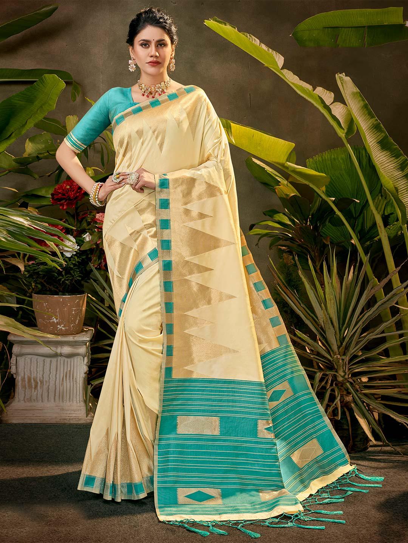 Party wear beige silk saree?imgeng=w_400
