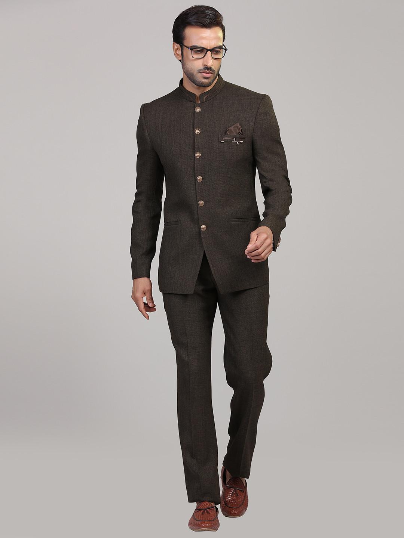 Party wear brown colored jodhpuri suit?imgeng=w_400