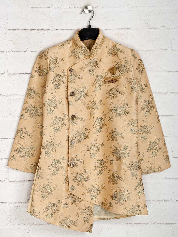 Peach cotton silk boys indo western?imgeng=w_400