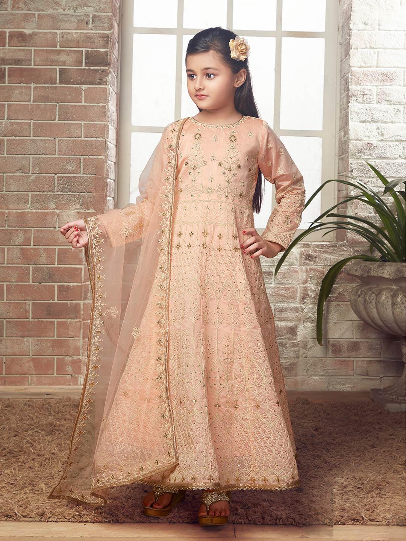 Peach hue designer wedding wear anarkali suit?imgeng=w_400