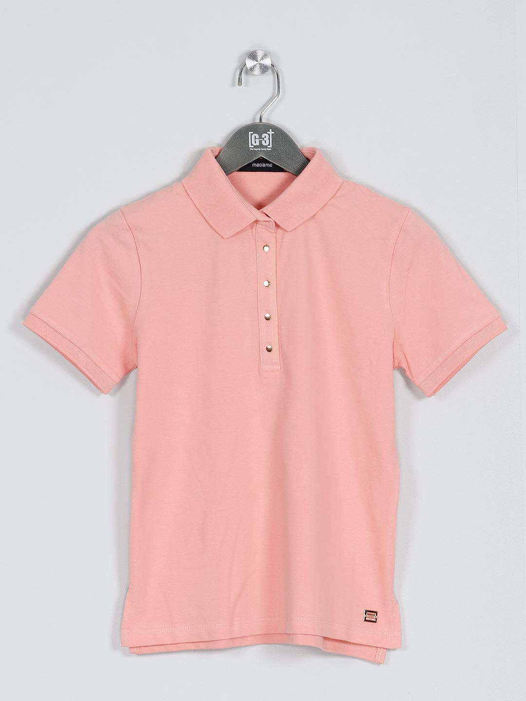 Peach solid t-shirt for casual look?imgeng=w_400