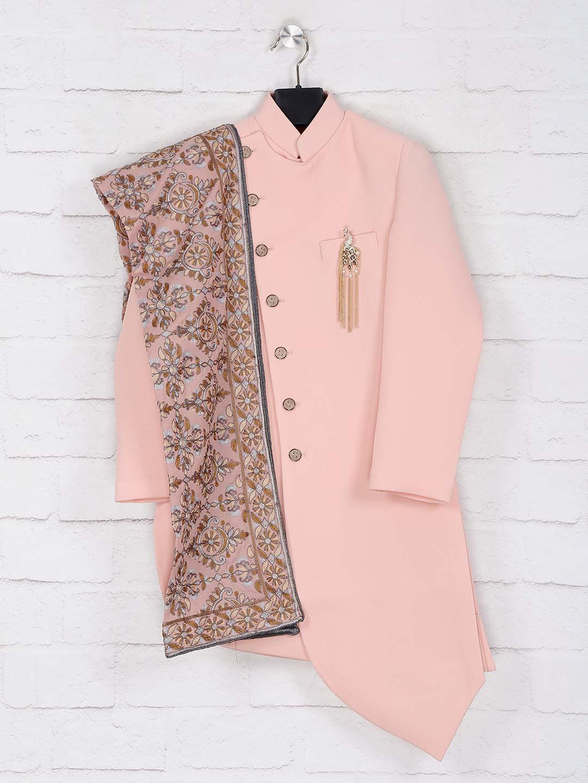 Peach solid wedding wear indo western?imgeng=w_400