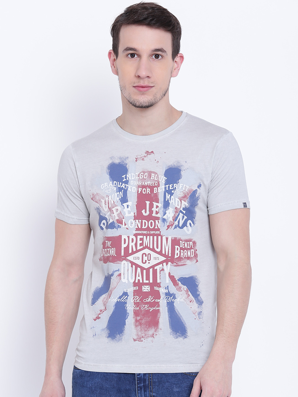 Pepe Jeans cotton casual wear grey t-shirt?imgeng=w_400