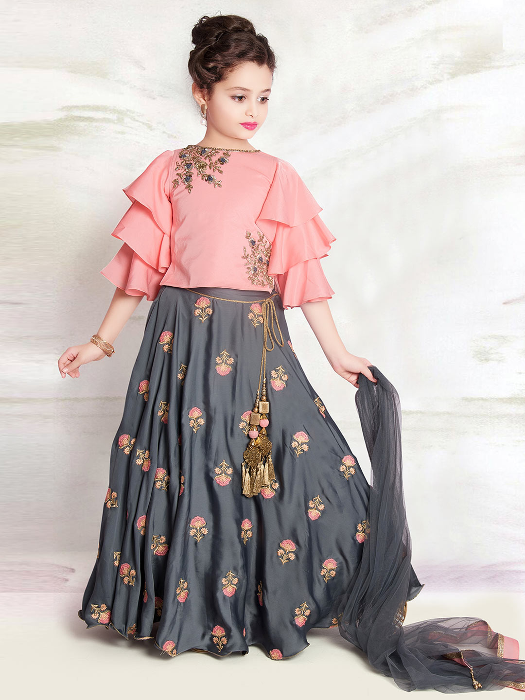 Pink and grey designer girls lehenga choli?imgeng=w_400