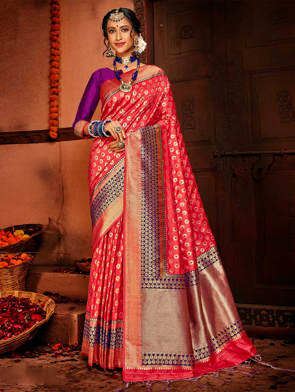 Pink banarasi silk wedding special saree?imgeng=w_400