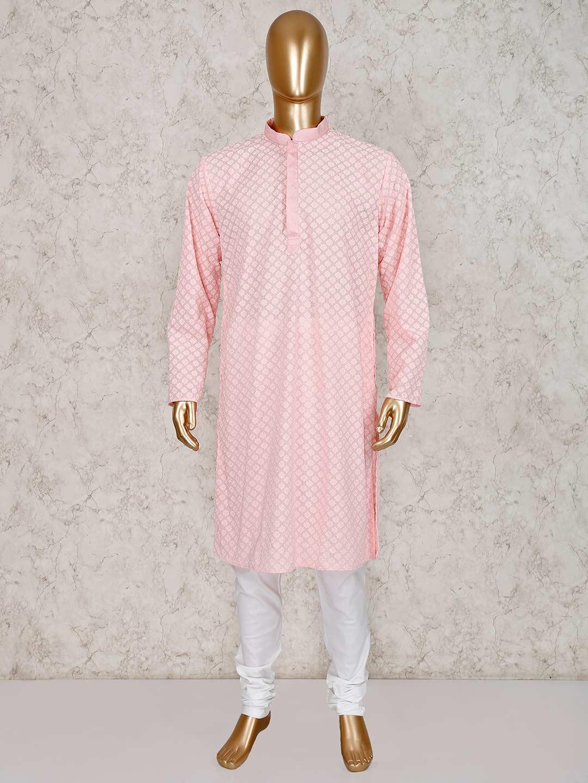 Pink cotton kurta with churidar?imgeng=w_400