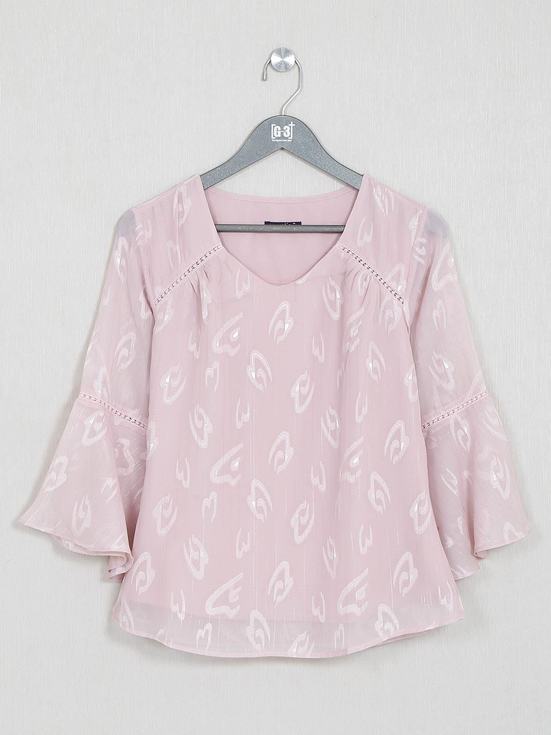 Pink cotton printed top for women?imgeng=w_400