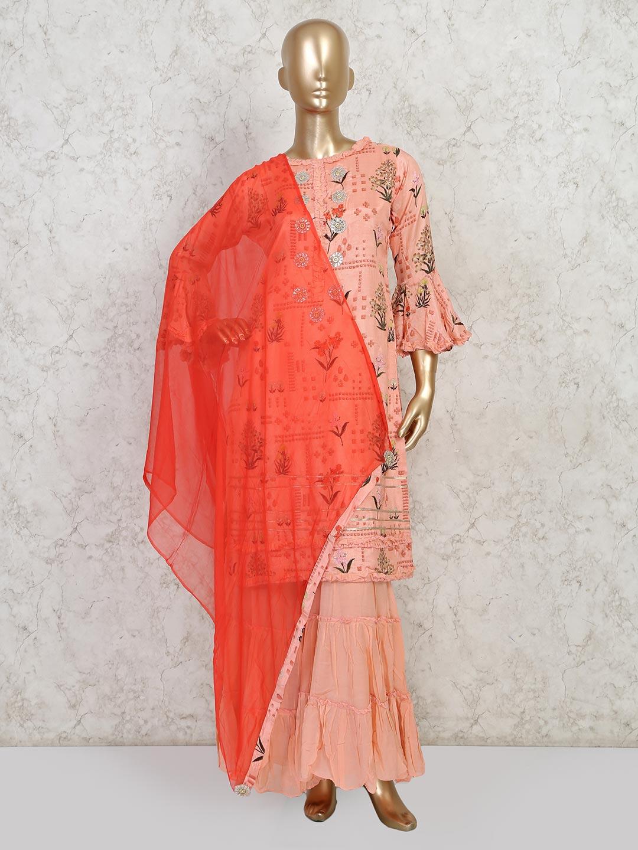 Pink cotton wedding wear sharara suit?imgeng=w_400