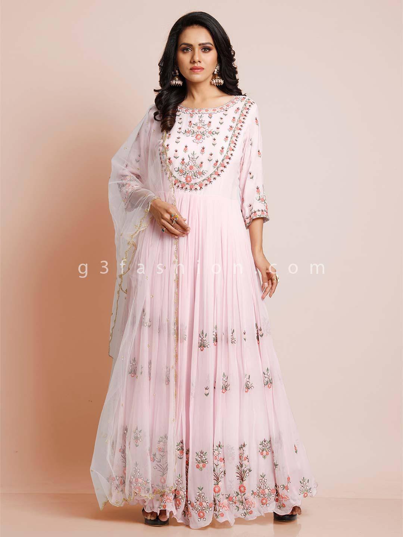 Pink georgette wedding wear salwar suit?imgeng=w_400