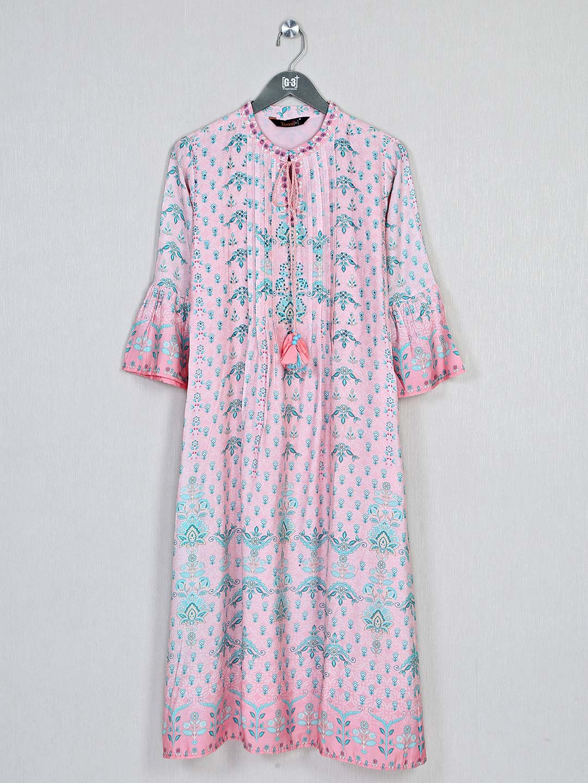 Pink printed casual look kurti in cotton?imgeng=w_400