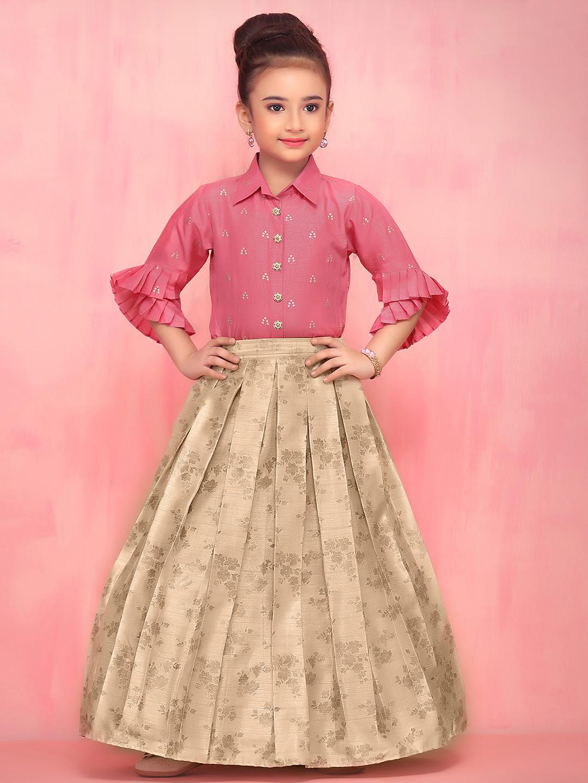 Pink raw silk party wear lehenga choli?imgeng=w_400