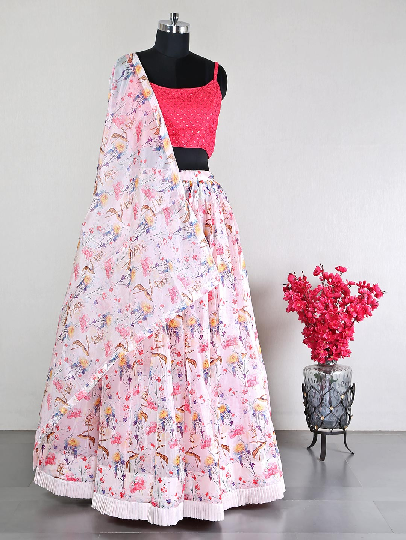 Pink silk wedding events lehenga choli?imgeng=w_400