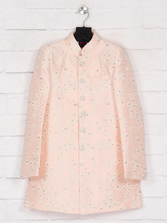 Pink terry rayon wedding wear indo western?imgeng=w_400