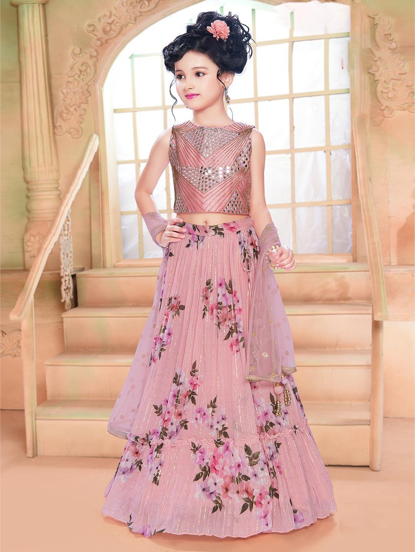 Pink wedding special lehenga choli in georgette?imgeng=w_400