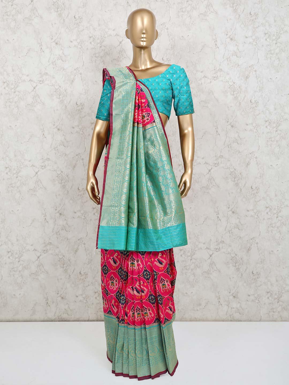 Pink zari inflated patola silk saree?imgeng=w_400