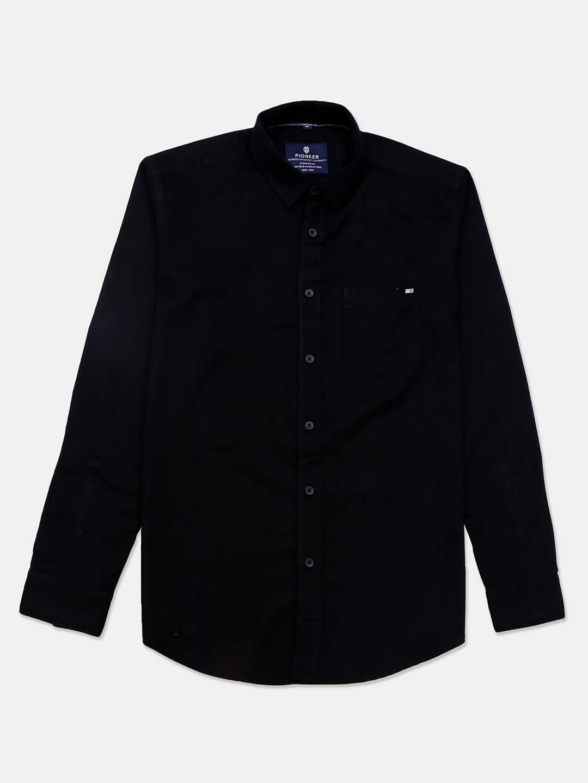 Pioneer black casual wear solid shirt?imgeng=w_400