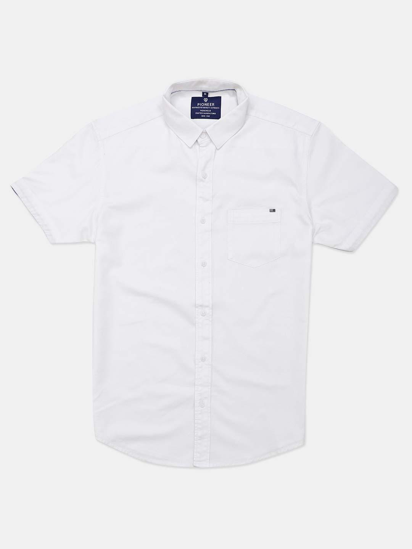 Pioneer white casual shirt?imgeng=w_400